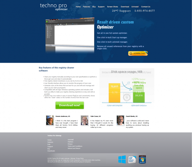 Technoproutilities.com screenshot